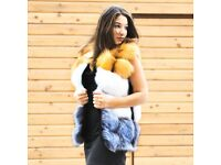 DAYMISFURRY - Finn Fox Fur Horizontal Design Gilet