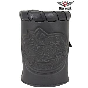 Leather Motorcycle Cup Holder