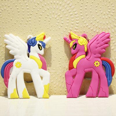 Cartoon My Little Pony 2x Double Side Keychains Keyrings Pendant Gift Girls Kids