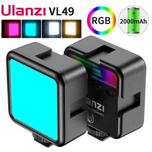 Ulanzi VL49 Mini RGB LED Video Light 2000mAh Vlog Fill Light For Phone Camera