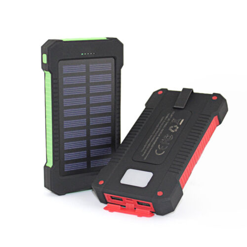 US 50000mAh Power Bank 2 USB LED Solar External Battery Char