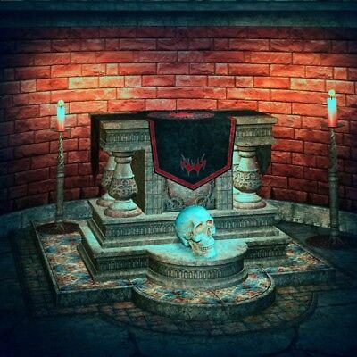 Sacrificial Altar Spooky Halloween Backdrop 8x8ft Background Studio Props Photo](Spooky Halloween Backdrops)