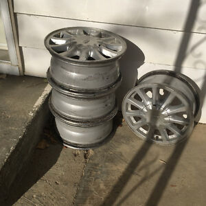 Ford Rims With Rack!