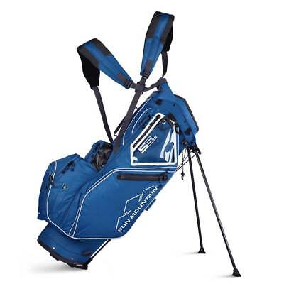 New 2019 Sun Mountain 5.5 LS Golf Stand Bag (Petrel / White)