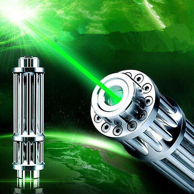 High Power Laser Pointer Pen Green 532nm Military Zoomable Burning Beam 18650