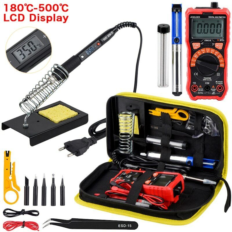 Soldering iron kit with Digital Multimeter 6000 count AC/DC