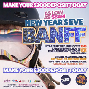 New year's eve banff 2018