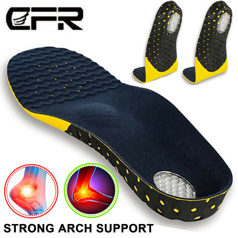 Pair Orthotic Shoe Insoles Inserts Flat Feet High Arch Suppo