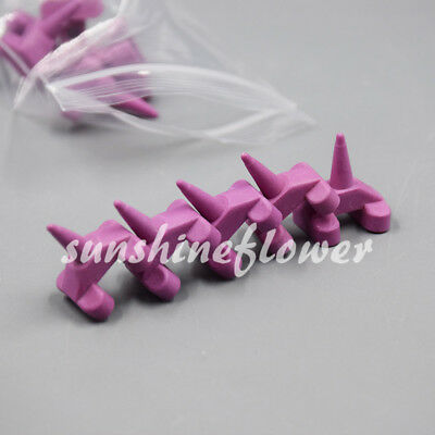 5 Pcs Anterior Ceramic Firing Pegs Dental Lab For Porcelain Oven Holding Tray