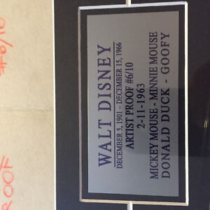Walt Disney artist proof numbered 6/10 signed West Island Greater Montréal image 1