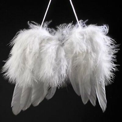 New White Angel Feather Wings xmas Tree Party Hanging Ornaments Party Decoration](Hanging Ornaments)