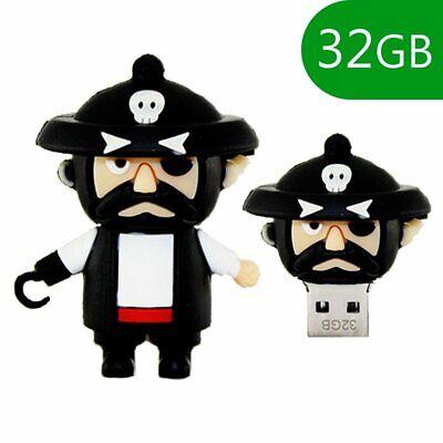 MEMORIA USB PENDRIVE LAPIZ USB FLASH 32GB DIBUJOS TEMATICO 3D PIRATA PIRATE