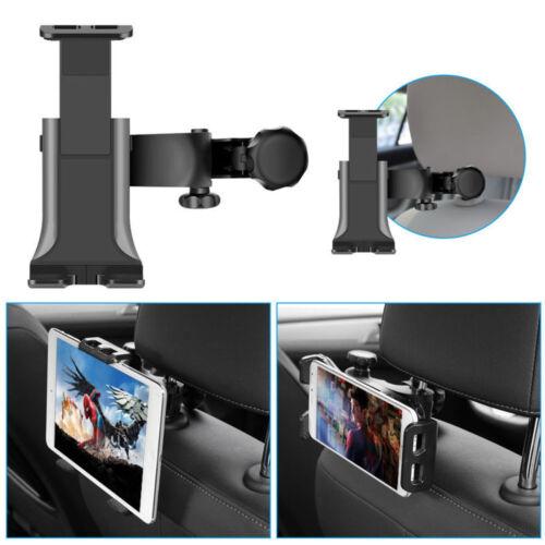 """Car Back Seat Headrest Tablet Mount Holder For 4-12/"""" iPad Tablets Adjustable EN"""
