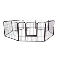 "24"" Dog Puppy Playpen 8 Panel Pet Pen Cat Outdoor Exercise Fence"