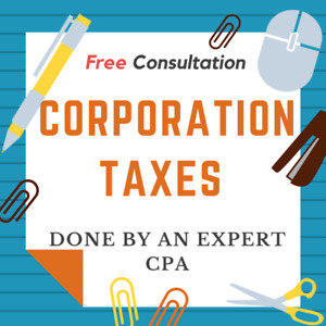 Corporation Income Taxes done by a CPA