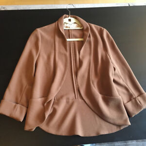 Aritzia Wilfred Brown Relaxed Fit Blazer