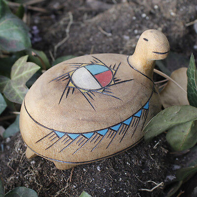 HAND CARVED TURTLE by ALAN LEWIS - ZUNI NATIVE AMERICAN