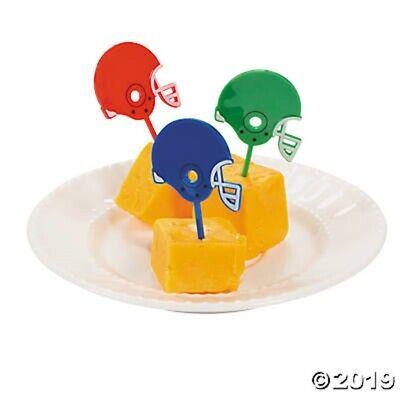 Football Cupcake Picks (25 Football Helmet Sports Cupcake Food Drink Picks Birthday Party)