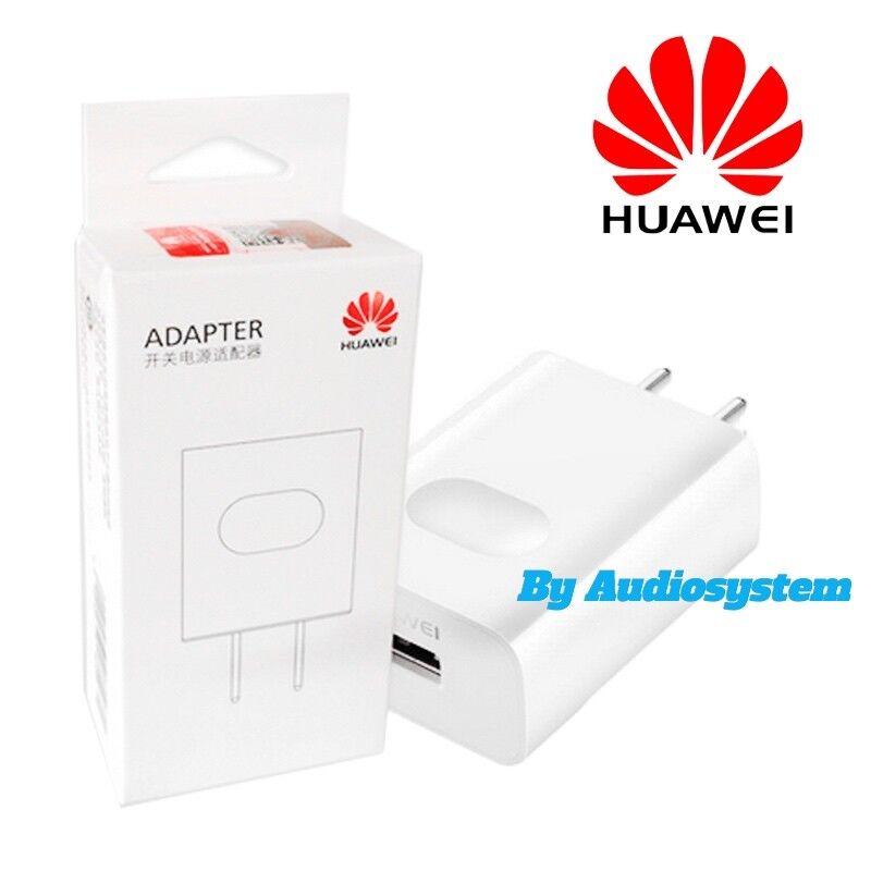 CARICA BATTERIA ORIGINALE HUAWEI 10W 2A USB CARICATORE FAST VELOCE BIANCO MURO