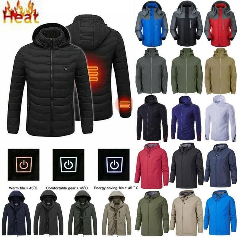 Men Women Winter Hoodie Hiking Jacket Padded Coat Waterproof