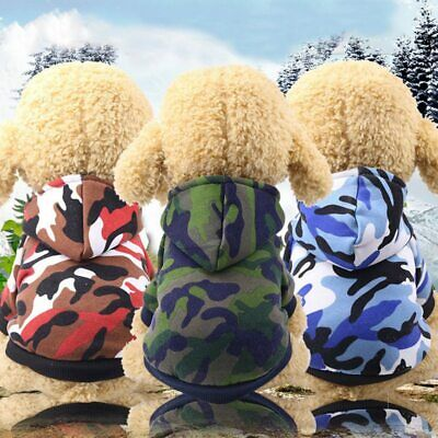 Pet Dog Hoodie Camo Clothes Puppy Coat Apparel for Smalll Medium Large -