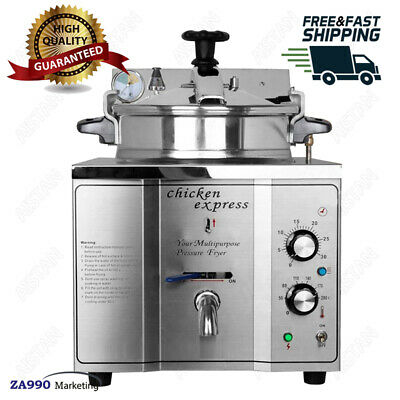 Commercial 3000w Electric 15l Pressure Deep Fryer Food Chips Potato Chicken Oven