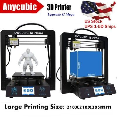 """US Cache ANYCUBIC 3D Printer UPGRADE i3 Mega Full Metal Frame 3.5"""" Touch Screen"""