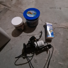 Terrapin turtle food water freshener and heat lamp