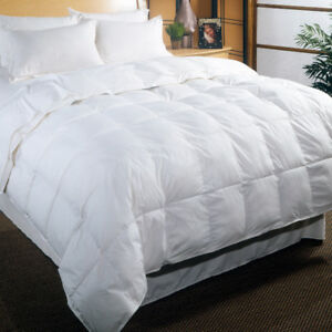 Canadian White Goose Down Duvet and Down Pillows
