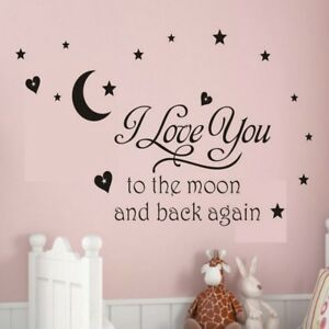 Vinyl Decal Sticker Wall Decals Wall Sticker I Love You to the moon and back