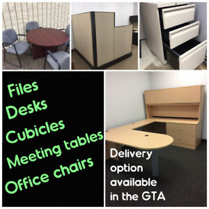 OPTIONAL DELIVERY, USED FILE CABINETS, OFFICE CHAIRS, TABLES