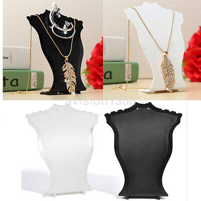 - Commerical Pendant Necklace Display Bust Stands Plastic Jewelry Holder Stand US