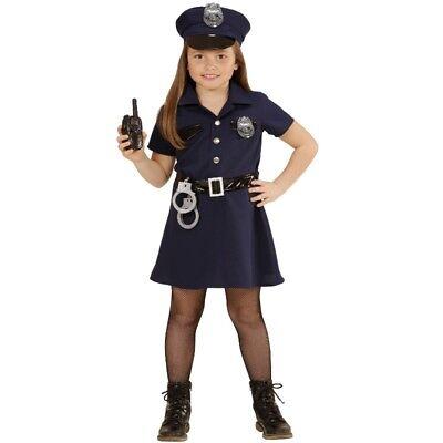 5tlg POLIZISTIN Mädchen Kinder Kostüm Gr.116 Uniform Cop Karneval Fasching - Cop Kind Kostüm Mädchen