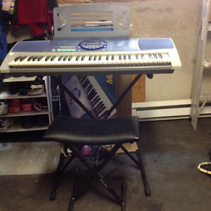 Panasonic keyboard with stool and stand