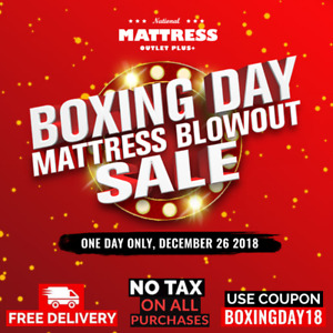 National Mattress Outlet: Boxing Day Mattress Blowout Sale