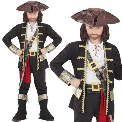 Rob Pirat Piraten Kapitän Jungen Kinder Kostüm Komplett-Set - 128 140 158 164
