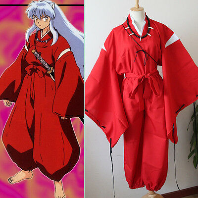 COSTUME COSPLAY INUYASHA KIMONO MAN JAPANESE ANIME DRESS - Carnevale Kostüme