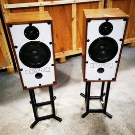 Vintage Mission 770 2-Way Reflex Speaker (Pair) with Stands