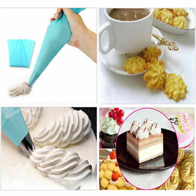 Silicone Reusable Icing Piping Cream Pastry Bag DIY Cake Decorating Tools