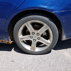 Set of 4 Lexus is300 5x114 rims nearly new tires