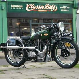 1936 BSA 500 Blue Star Classic Vintage Rare In Beautiful Condition, Ride Away