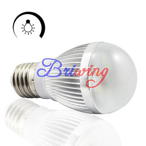5pcs 6W E27 E26 Cool White LED Light Bulb Dimmable Lamp 110V 120V