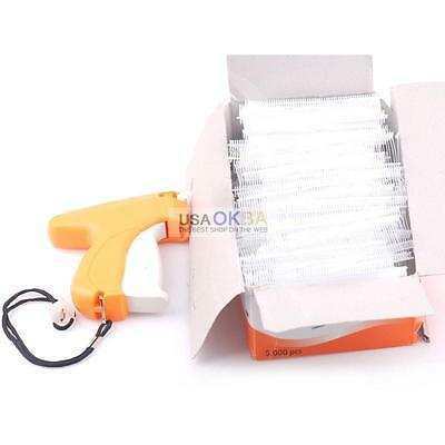 "Regular Clothes Garment Price Label Tagging Tag Gun w/1"" 5000 Barbs Pins +Needle"