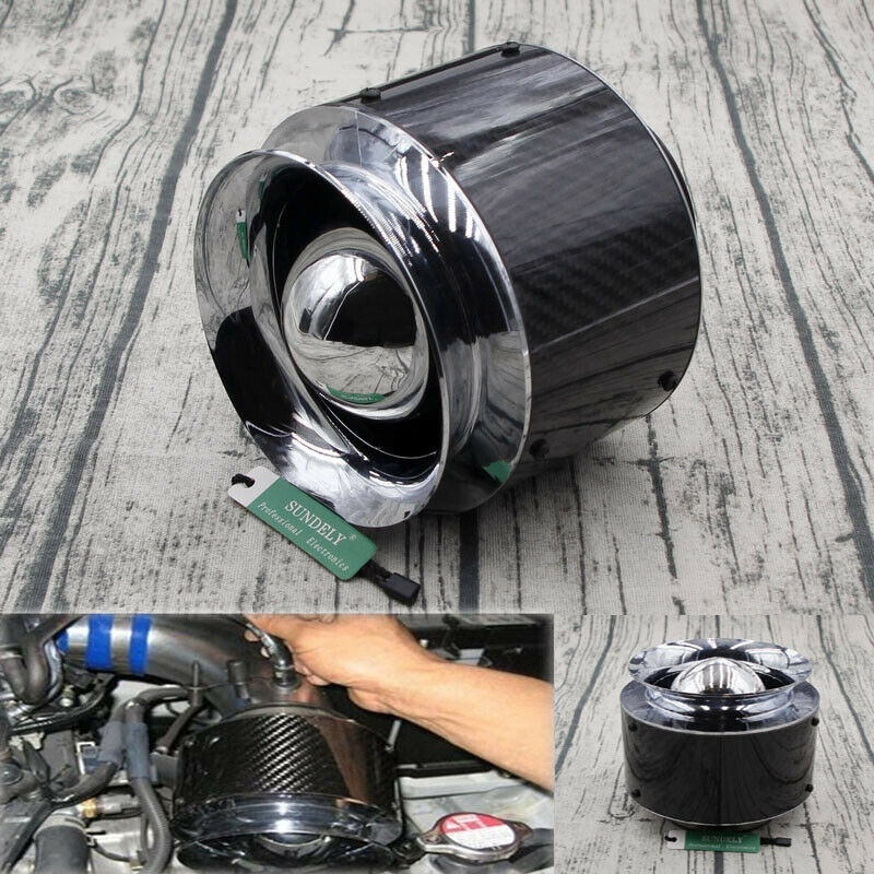 "Auto Car Air Filter Carbon Fiber 3/"" Inlet//5/""  For Cold Air//Short Ram Intake~"