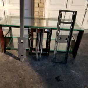 TV Stand with Glass Table .