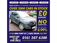Renault Captur Dynamique Nav 0.9 Petrol BAD / GOOD CREDIT CAR FINANCE