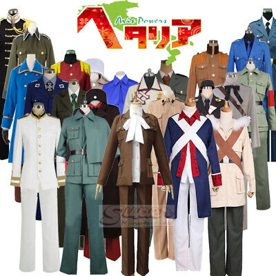 Hetalia Axis Powers Group of Characters Anime Dress Uniform Cosplay Costume