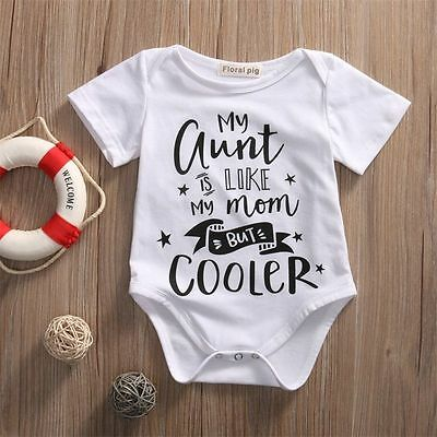 US Stock Kids Baby Boy Girl Jumpsuit Short Sleeve Romper Playsuit Clothes Outfit