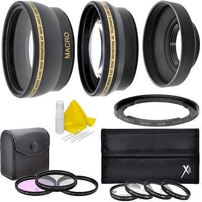 7PC Accessory Kit for Canon PowerShot SX50 SX40 HS SX30 SX20 SX10 IS SX540 SX530