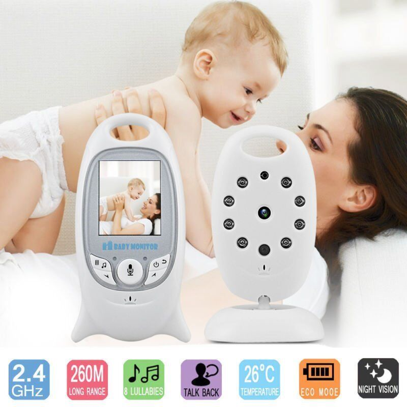 Video Camera Baby Monitor With Nursery Rhymes Temperature Etc
